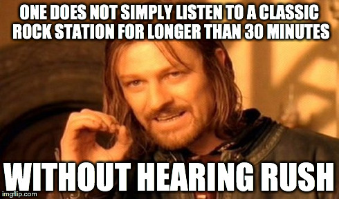 "...and they always play it during ""rush hour"", of course. 