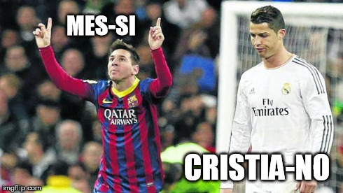 UEFA Champions League 2014/2015 | CRISTIA-NO MES-SI | image tagged in uefa champions league 2014/2015,uefa champions league,champions league,messi,cristiano ronaldo,champions league final | made w/ Imgflip meme maker
