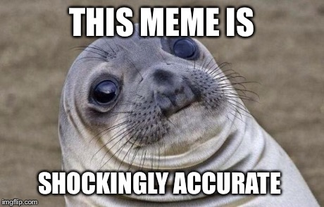 Awkward Moment Sealion Meme | THIS MEME IS SHOCKINGLY ACCURATE | image tagged in memes,awkward moment sealion | made w/ Imgflip meme maker