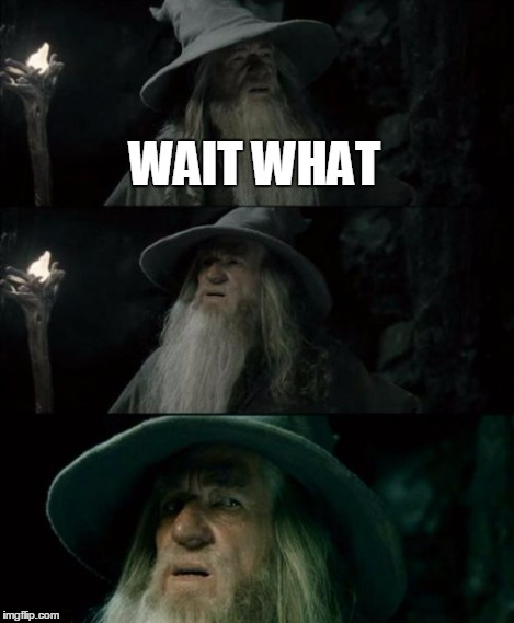 Confused Gandalf Meme | WAIT WHAT | image tagged in memes,confused gandalf | made w/ Imgflip meme maker