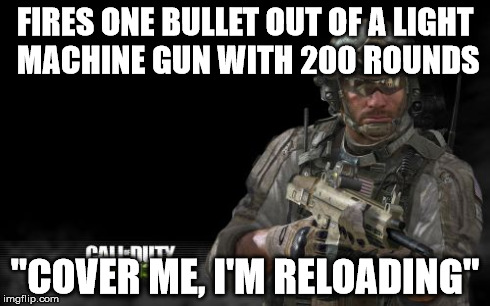 "Modern Warfare 3 | FIRES ONE BULLET OUT OF A LIGHT MACHINE GUN WITH 200 ROUNDS ""COVER ME, I'M RELOADING"" 