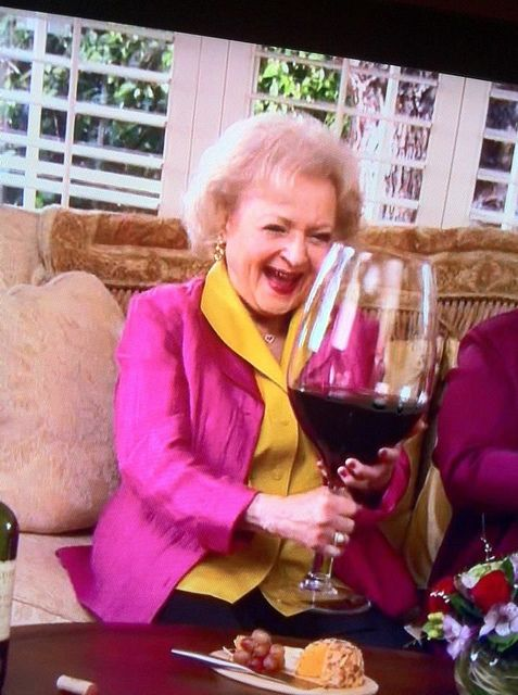 High Quality Betty White Wine Blank Meme Template
