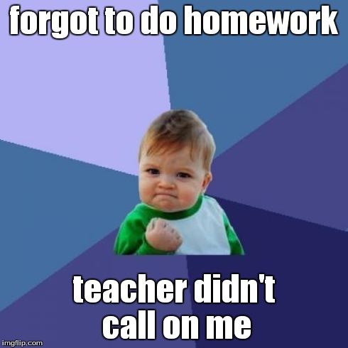 Forgot to do homework help