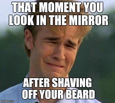 Funny beard shaving meme - photo#14