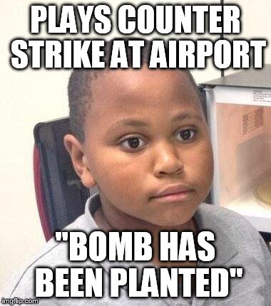 "Minor Mistake Marvin | PLAYS COUNTER STRIKE AT AIRPORT ""BOMB HAS BEEN PLANTED"" 