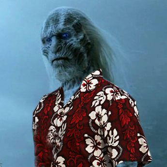 High Quality White Walker Hawaiian Shirt Blank Meme Template