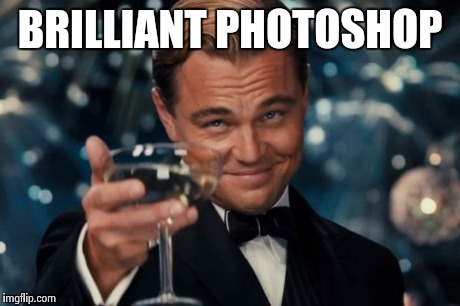 Leonardo Dicaprio Cheers Meme | BRILLIANT PHOTOSHOP | image tagged in memes,leonardo dicaprio cheers | made w/ Imgflip meme maker