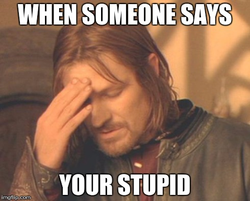 m512c frustrated boromir meme imgflip,Your Stupid Meme