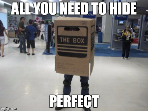 ALL YOU NEED TO HIDE PERFECT | image tagged in metal gear solid | made w/ Imgflip meme maker