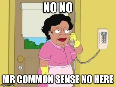 no common sense