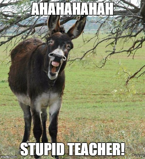 AHAHAHAHAH STUPID TEACHER! | made w/ Imgflip meme maker