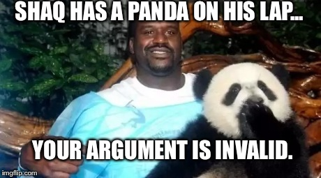 Shaq With A Panda Your Argument Imgflip