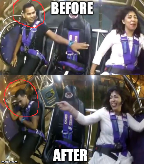 Hero to Zero | BEFORE AFTER | image tagged in hero to zero,rollercoaster,scared,shame | made w/ Imgflip meme maker