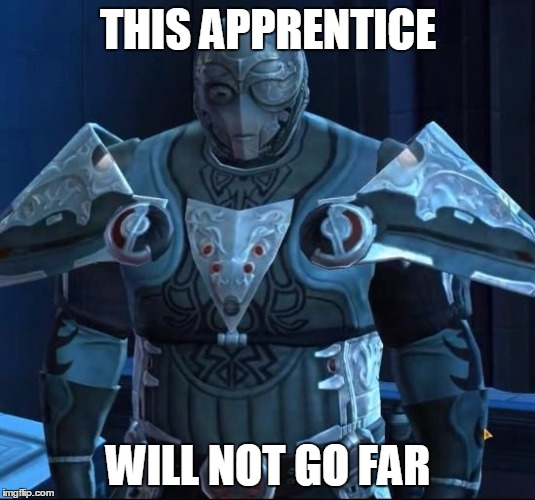 Baras's code | THIS APPRENTICE WILL NOT GO FAR | image tagged in baras's code | made w/ Imgflip meme maker