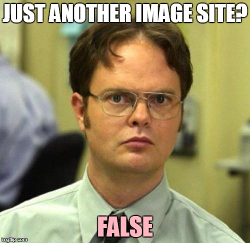 To all new imgflip users | JUST ANOTHER IMAGE SITE? FALSE | image tagged in false,repost,of,imgflip | made w/ Imgflip meme maker