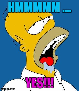 Homer Drooling | HMMMMM .... YES!!! | image tagged in homer drooling | made w/ Imgflip meme maker