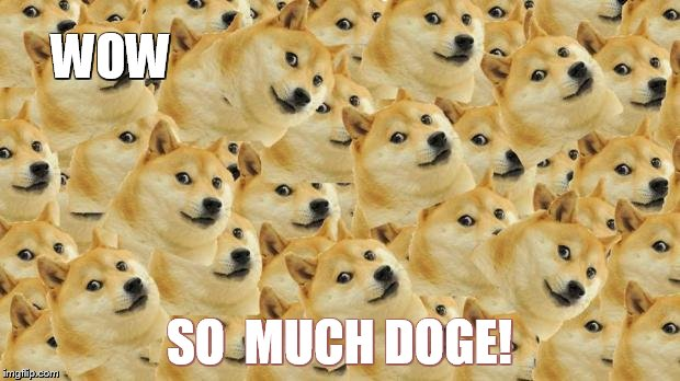 Multi Doge | WOW SO  MUCH DOGE! | image tagged in memes,multi doge | made w/ Imgflip meme maker