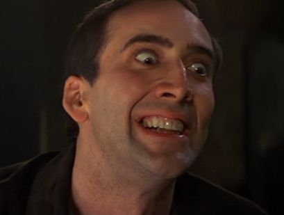 High Quality Crazy Nick Cage Blank Meme Template