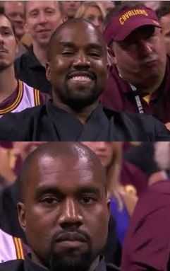 Kanye Smile Then Sad Meme Template