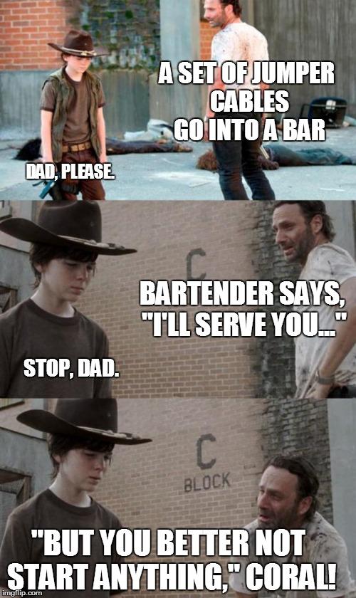Jumper Cables Meme : Rick and carl meme imgflip