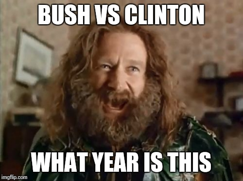 What Year Is It Meme | BUSH VS CLINTON WHAT YEAR IS THIS | image tagged in memes,what year is it,AdviceAnimals | made w/ Imgflip meme maker