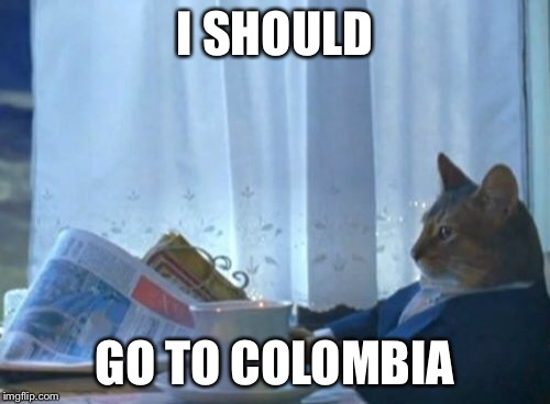 n21wq i should buy a boat cat meme imgflip,Colombia Meme