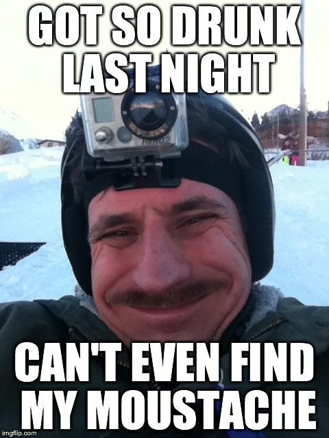 n790y moustache ski gopro ron burgundy mario bros imgflip