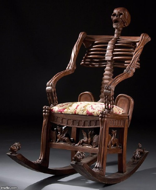 Spooky Scary Chair | ` | image tagged in spooky scary chair | made w/ Imgflip meme maker