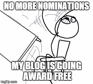 No more blog nominations