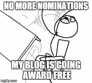 No more blog nominations
