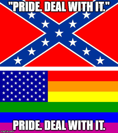 "Pride, am I right? | ""PRIDE. DEAL WITH IT."" PRIDE. DEAL WITH IT. 