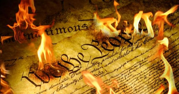 constitution in flames blank template imgflip