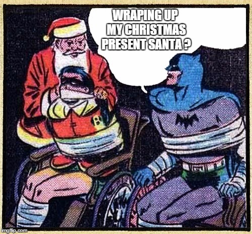 Santa meets Batman - Imgflip