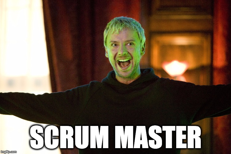 The Scrum Master | SCRUM MASTER | image tagged in the master,scrum | made w/ Imgflip meme maker