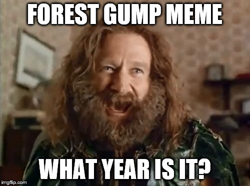 FOREST GUMP MEME WHAT YEAR IS IT? | made w/ Imgflip meme maker