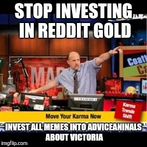Mad Karma | STOP INVESTING IN REDDIT GOLD INVEST ALL MEMES INTO ADVICEANINALS ABOUT VICTORIA | image tagged in mad karma,AdviceAnimals | made w/ Imgflip meme maker