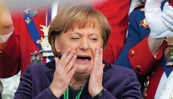 Merkel CRYİNG ile ilgili görsel sonucu
