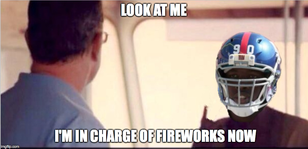 How Do NFL Players Keep Finding Stupid Ways to Ruin Their Career? | LOOK AT ME I'M IN CHARGE OF FIREWORKS NOW | image tagged in captain phillips - i'm the captain now,jpp,jean pierre paul,footballl | made w/ Imgflip meme maker
