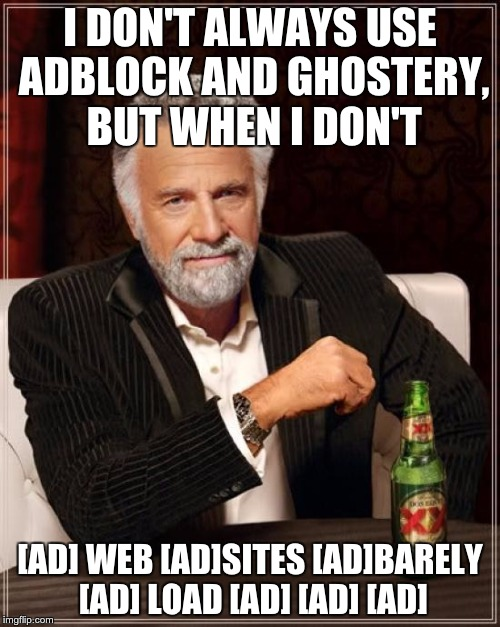Adblock is the most popular Chrome extension