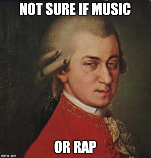 Mozart Not Sure | NOT SURE IF MUSIC OR RAP | image tagged in memes,mozart not sure | made w/ Imgflip meme maker