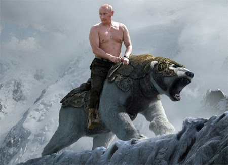 Image result for putin riding bear