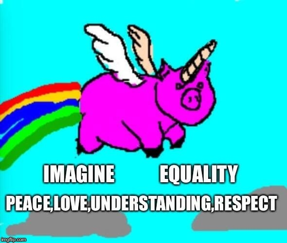 Peace love understanding respect | image tagged in peace,love,understand,respect,unicorn | made w/ Imgflip meme maker