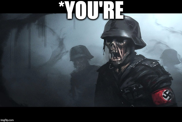 Zombie Grammar Nazis | *YOU'RE | image tagged in grammar nazi,grammar lesson | made w/ Imgflip meme maker