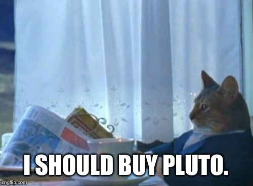 I Should Buy A Boat Cat Meme | I SHOULD BUY PLUTO. | image tagged in memes,i should buy a boat cat | made w/ Imgflip meme maker