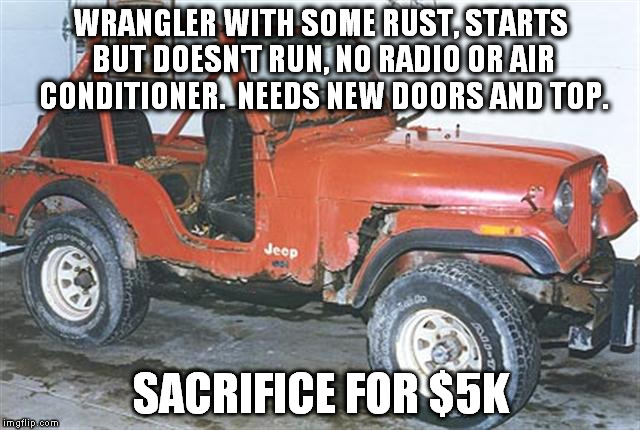 Typical Jeep Ads On Craigslist Imgflip