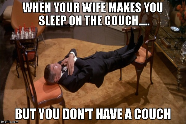 i sleep on the couch