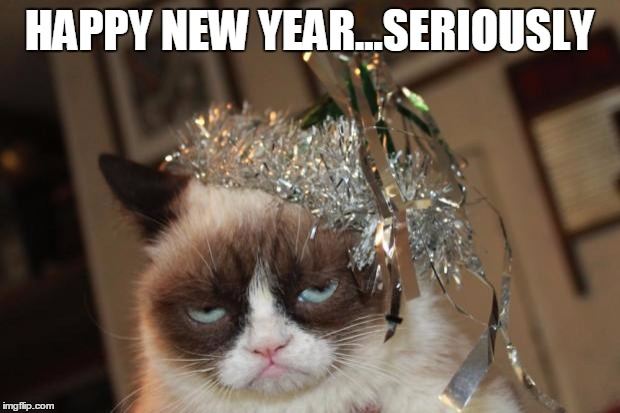 grumpy cat new years happy new yearseriously image tagged in