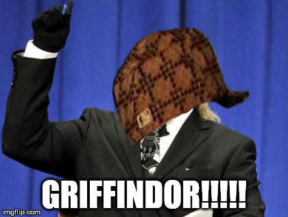 Too Damn High Meme | GRIFFINDOR!!!!! | image tagged in memes,too damn high,scumbag | made w/ Imgflip meme maker