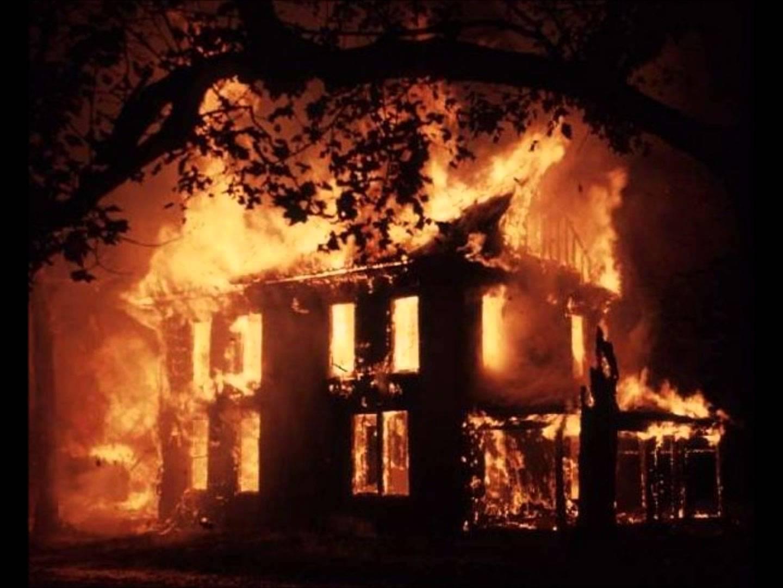 Elegant High Quality House On Fire Blank Meme Template
