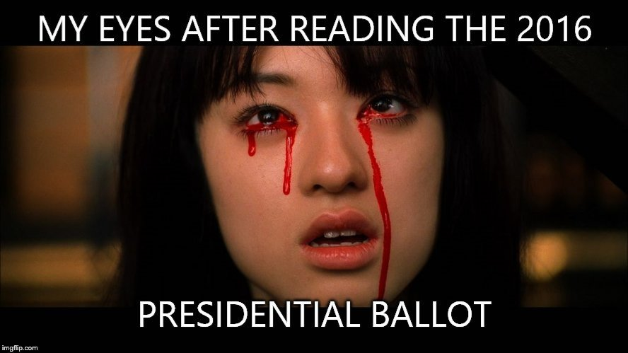 Image result for election ballot meme